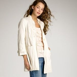 J.Crew Belted Twisted-Cotton Trench in Natural